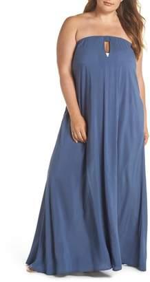 Elan International Strapless Keyhole Cover-Up Maxi Dress