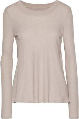 Enza Costa Wrap-Effect Cotton And Cashmere-Blend Top