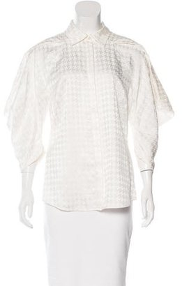 Rachel Roy Houndstooth Button-Up Top $70 thestylecure.com