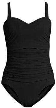 Gottex Swim Swim Women's Tutti Frutti One-Piece D-Cup Swimsuit - Black - Size 16