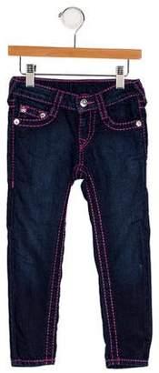True Religion Girls' Five Pocket Jeans
