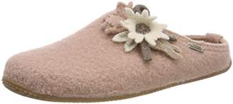 Living Kitzbühel Women's Pantoffel Edelweiß Open Back Slippers,8 7.