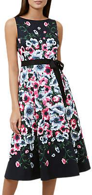Hobbs Sissinghurst Midi Dress, Navy Multi