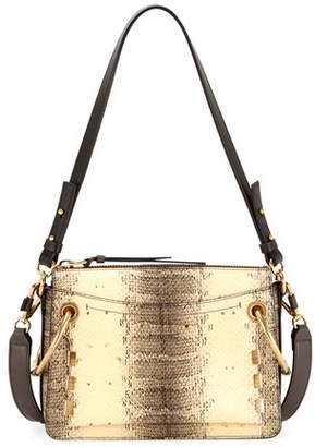Chloé Roy Small Embossed Leather Satchel Bag