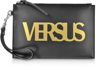 Versace Versus Black Leather Versus Pouch
