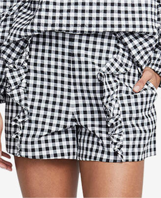 Rachel Roy Calle Gingham Ruffled Shorts, Created for Macy's