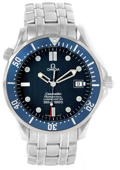 OmegaOmega Seamaster 2531.80.00 Stainless Steel & Blue Dial Automatic 41mm Mens Watch