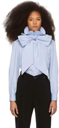 Marc Jacobs Blue High Collar Shirt