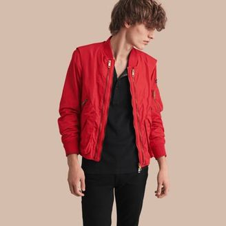 Burberry Technical Bomber Jacket with Detachable Gilet $995 thestylecure.com