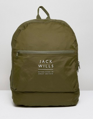 Jack Wills Benville Nylon Bag in Khaki
