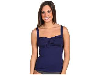 TYR Solid Twisted Bra Tankini