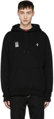 Marcelo Burlon County of Milan Black Waves Hoodie