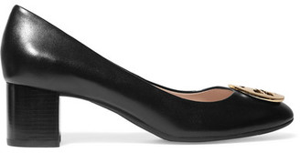 Tory Burch - Hope Embellished Leather Pumps - Black $250 thestylecure.com