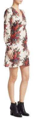 McQ Floral Silk A-line Dress