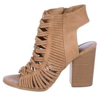 Diane von Furstenberg Leather Cage Sandals