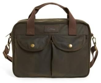 Barbour 'Longthorpe' Waxed Canvas Laptop Bag