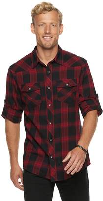 Rock & Republic Men's Plaid Button-Down Flannel Shirt