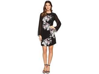 Vince Camuto Chiffon Sleeve Winter Gerland Dress Women's Dress