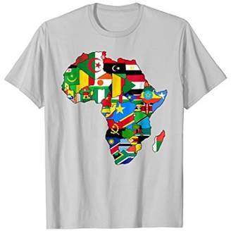Africa map t-shirt African Country Flag Collage t-shirt