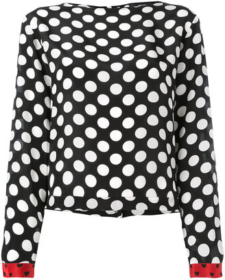 Diesel polka dot blouse $146.99 thestylecure.com