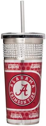 Alabama Crimson Tide Bling Stainless Steel Straw Tumbler