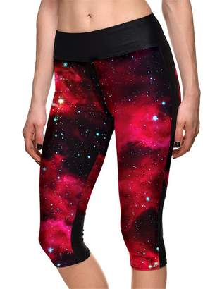 Hoyou Sexy Smooth Patterned Pants Slimming Tribal Galaxy Print Leggings For Women Teenager Girls (M, )