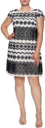 Julia Jordan Embroidered Shift Dress