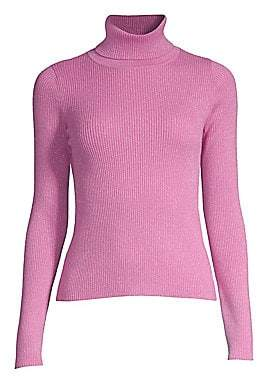 Robert Rodriguez Women's Lurex Ribbed Turtleneck Sweater