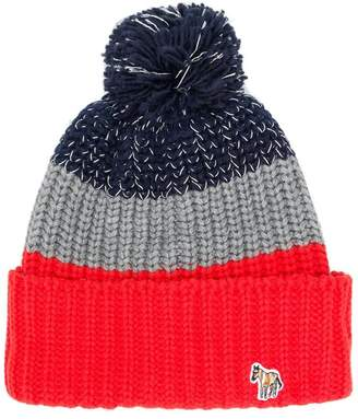 Paul Smith tricolour knitted hat