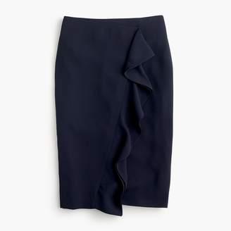J.Crew Tall ruffle pencil skirt in 365 crepe