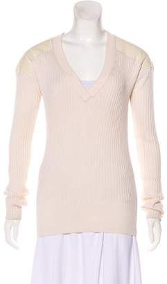 Reed Krakoff Cashmere & Silk Long Sleeve Sweater