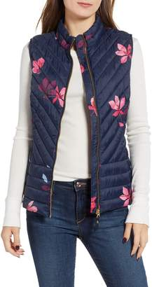 Joules Printed Chevron Quilted Vest