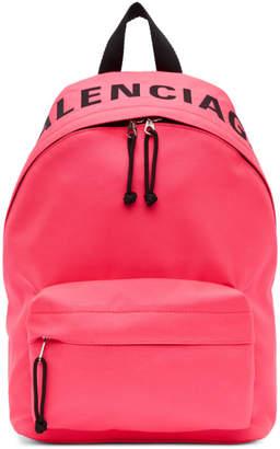 Balenciaga Pink Small Wheel Backpack