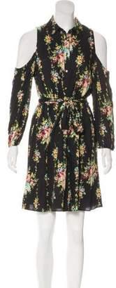 Alice + Olivia Floral Cold Shoulder Dress