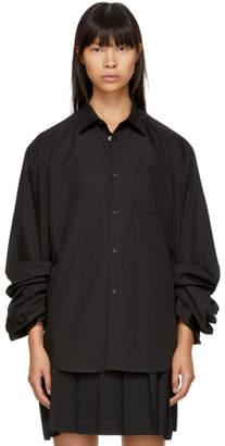 Junya Watanabe Black Gathered Sleeve Shirt