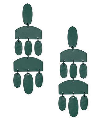Kendra Scott Emmet Matte Statement Earrings in Emerald
