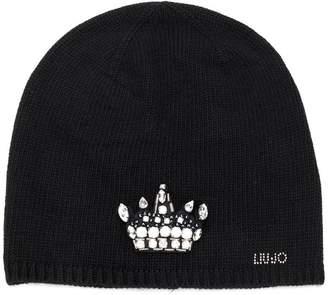 Liu Jo embellished crown beanie