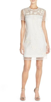 Women's Ted Baker London 'Findon' Embellished Silk Organza Dress $375 thestylecure.com
