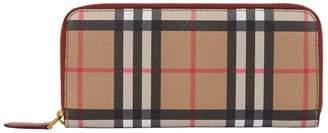Burberry Vintage Check Zip-Around Wallet