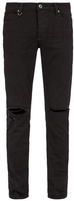 Neuw Iggy Powell Distressed Skinny Fit Jeans - Mens - Black