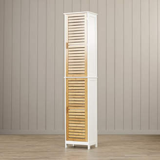 Beachcrest Home Munos 15.75 W x 75 H Linen tower