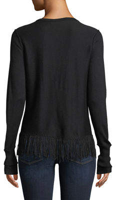 Go Silk Go Out On The Fringes Sweater