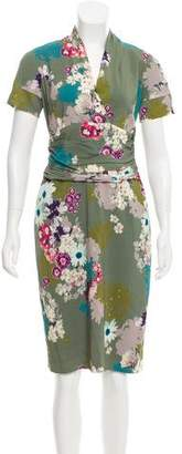 Etro Floral Print Knee-Length Dress