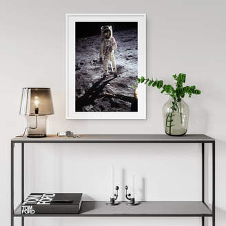 Abstract House Space Art Print Astronauts Gift Framed Print