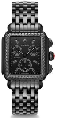 Michele Deco Diamond Watch Head & Bracelet, 34mm x 35mm