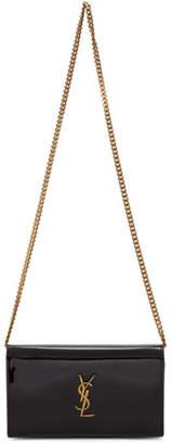 Saint Laurent Black Patent Kate Wallet Bag