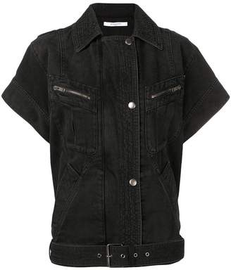 Givenchy short-sleeved denim jacket