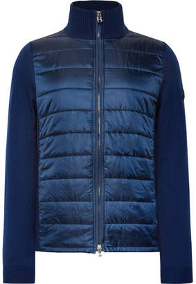 Bogner Luan Slim-Fit Wool And Quilted Ripstop Zip-Up Mid Layer