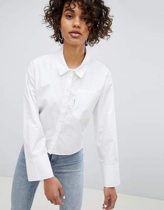 Cheap Monday White Shirt with Back Zip