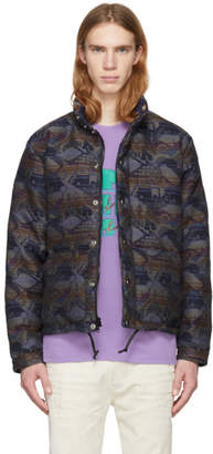 Bianca Chandon Multicolor Crescent Down Works Down English Wool Jacket